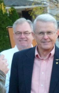 Creepy sex-obsessed conservative weirdo state senator Dick Black (R), right, with close personal friend Scott York (R)